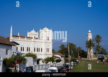 The old town of the historic Galle Fort, UNESCO World Heritage Site, Sri Lanka, Asia - Stock Photo