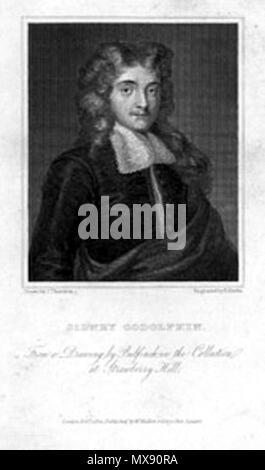 . Sidney Godolphin - Poet (1610-1643) . 1822. R. Rivers after J. Thurston 249 Godolphin-Sidney-8 - Stock Photo