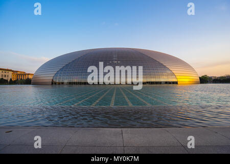 Bejing, China - April 14, 2017: National Centre for the Performing Arts in Beijing, China. - Stock Photo
