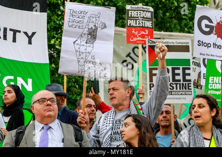 London, England. 5th June, 2018. Palestinian Solidarity Campaign Protest, London Protest: Free Palestine – Stop the Killing – Stop Arming Israel. Credit: Brian Duffy/Alamy Live News - Stock Photo