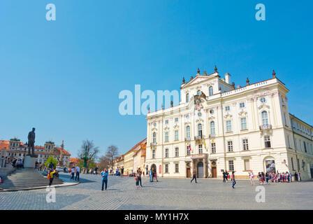 Hradcanske namesti, Hradcany, Prague, Czech Republic - Stock Photo