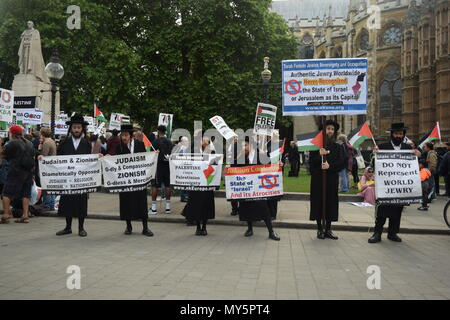 London, UK. 5th June, 2018. Stop Arming Israel demo in London. Credit: City Bloke/Alamy Live News - Stock Photo