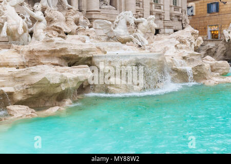 Trevi Fountain (Fontana di Trevi) in Rome, Italy. - Stock Photo
