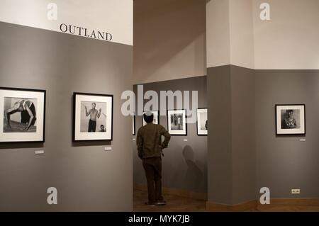BOZAR gallery exhibition in Brussels Belgium January 2018 | usage worldwide - Stock Photo