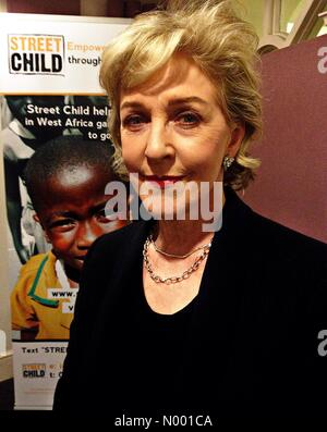 London, UK. 6th February, 2015. Patricia Hodge back stage at Cadogan Hall london on 6/02/15 for Jack Whitehalls - Stock Photo