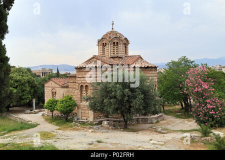Church of the Holy Apostles, Ancient Agora of Athens - Stock Photo