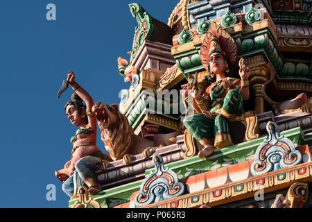 Mariamen Temple, downtown Port Louis,  Mauritius (Full name s Shrimadu Kannadur Mariamen Tirukkovil) - Stock Photo