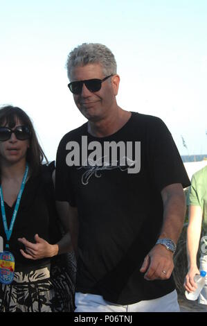 MIAMI BEACH, FL - FEBRUARY 27: Anthony Bourdain attends the Whole Foods Market Grand Tasting Village during the 2011 South Beach Wine and Food Festival on February 27, 2011 in Miami Beach, Florida   People:  Anthony Bourdain  Transmission Ref:  MNC15  Must call if interested Michael Storms Storms Media Group Inc. 305-632-3400 - Cell 305-513-5783 - Fax MikeStorm@aol.com - Stock Photo
