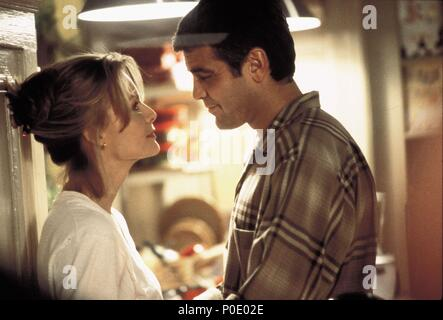 Original Film Title: ONE FINE DAY.  English Title: ONE FINE DAY.  Film Director: MICHAEL HOFFMAN.  Year: 1996.  Stars: GEORGE CLOONEY; MICHELLE PFEIFFER. Credit: 20TH CENTURY FOX / Album - Stock Photo