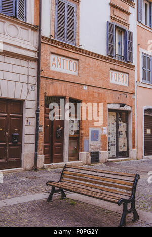 ROME, ITALY - 10 MARCH 2018: facades of ancient buildings of Rome - Stock Photo