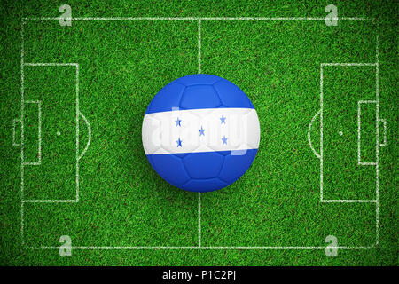 Composite image of football in honduras colours - Stock Photo