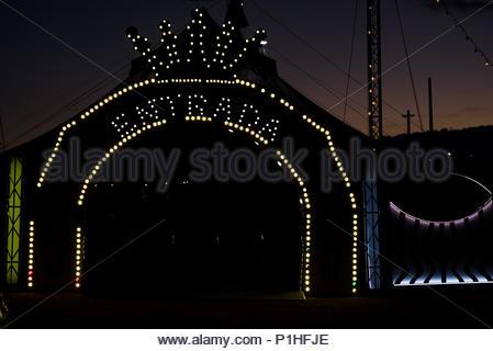 Circo entrance. Badajoz, Spain. 9/06/2018. - Stock Photo