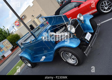 A custom 1931 Ford with a rumble seat for extra passengers. - Stock Photo