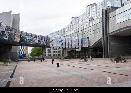 European Parliament Brussels Belgium - Stock Photo