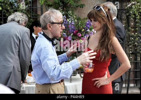 Original Film Title: TO ROME WITH LOVE.  English Title: TO ROME WITH LOVE.  Film Director: WOODY ALLEN.  Year: 2012.  Stars: PENELOPE CRUZ; WOODY ALLEN. Credit: MEDUSA FILM / Album - Stock Photo