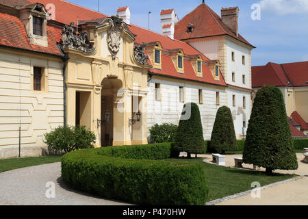 Czech Republic, Moravia, Valtice, Castle, - Stock Photo