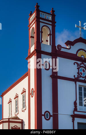 Portugal, Azores, Santa Maria Island, Vila do Porto, Ermida de Santa Antao chapel - Stock Photo