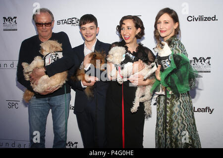 Hollywood, California, USA. 19th June, 2018. 19 June 2018 - Hollywood, California - Peter Fonda, Lewis MacDougall, Kristen Schaal, Vera Farmiga. ''Boundaries'' Los Angeles Premiere held at the Egyptian Theatre. Photo Credit: F. Sadou/AdMedia Credit: F. Sadou/AdMedia/ZUMA Wire/Alamy Live News - Stock Photo