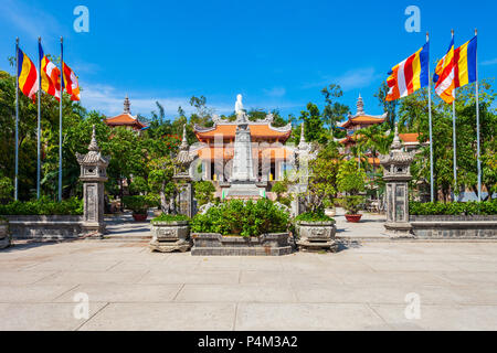 Long Son Pagoda or Chua Long Son is a Buddhist temple in the city of Nha Trang in south Vietnam - Stock Photo