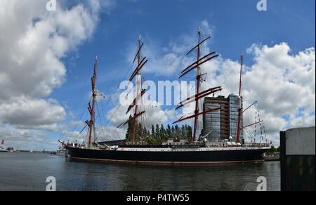 City and harbor view of the state capital Kiel on the Baltic Sea (Kieler Woche) - Stock Photo