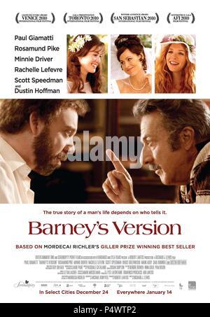 Original Film Title: BARNEY'S VERSION.  English Title: BARNEY'S VERSION.  Film Director: RICHARD J. LEWIS.  Year: 2010. Credit: SERENDIPITY POINT FILMS / Album - Stock Photo