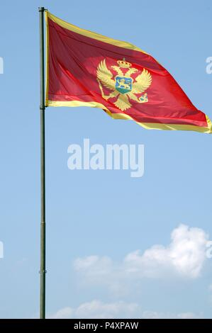 Flag of Montenegro. - Stock Photo
