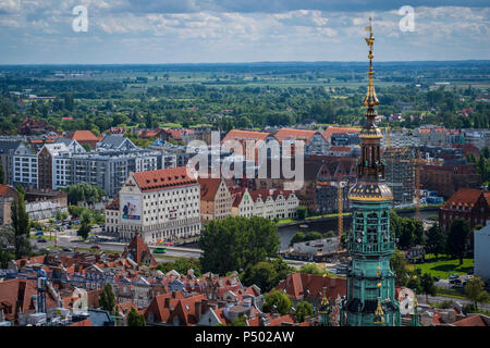 Poland, Gdansk, view to the city from above - Stock Photo