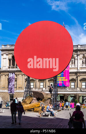 'Symphony for a Beloved Daughter' monumental sculpture by Anish Kapoor RA, Royal Academy of Arts summer exhibition 2018, Burlington House London - Stock Photo