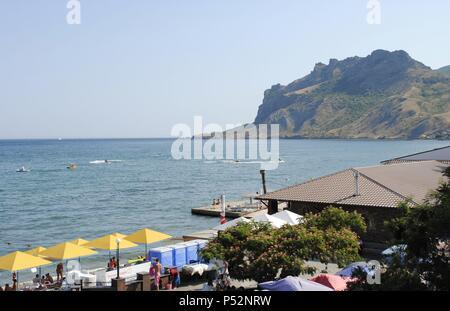 Ukraine. Autonomous Republic of Crimea. Koktebel. Beach. - Stock Photo