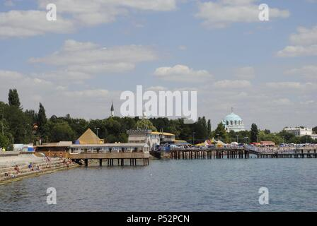 Ukraine. Autonomous Republic of Crimea. Yevpatoria. Overview. - Stock Photo