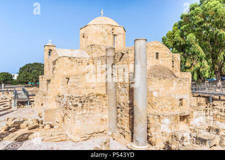 The Panagia Chrysopolitissa (Ayia Kyriaki) church in Paphos, Cyprus - Stock Photo