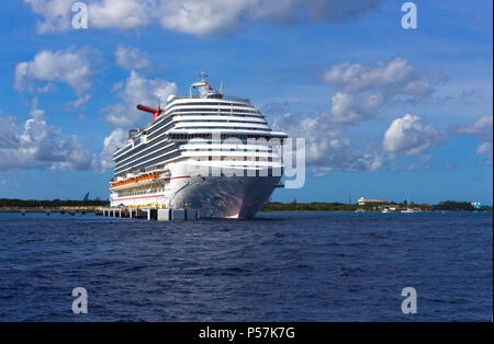 Cozumel, Mexico - May 04, 2018: The Carnival Dream cruise ship in port in Cozumel, Mexico - Stock Photo