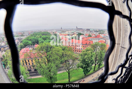 View on Krakow from Wawel Castle tower, Krakow, Poland ,East Europa - Stock Photo