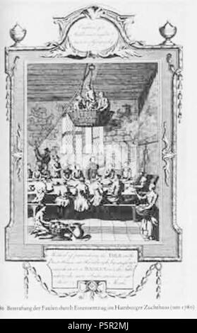 N/A. Deutsch: Bestrafung der Faulen im Hamburger Werk- und Zuchthaus . 1760.   William Hogarth  (1697–1764)       Description British painter and engraver  Date of birth/death 10 November 1697 25 October 1764  Location of birth/death London London  Work location London, Chiswick  Authority control  : Q171344 VIAF:17268409 ISNI:0000 0001 2099 3749 ULAN:500004242 LCCN:n80126106 NLA:35201047 WorldCat 195 Bestrafung der armen - Stock Photo
