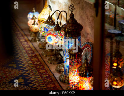 Shop with decorative lamps Kotor Old town Montenegro - Stock Photo