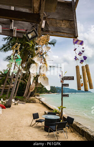 Wind chime on a bounty tropical island - Stock Photo