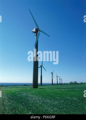 Wind turbines. - Stock Photo