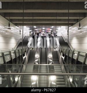 Austria, Vienna, Subway Line U2, Architect Gerhard Mo?burger 2008 - Stock Photo