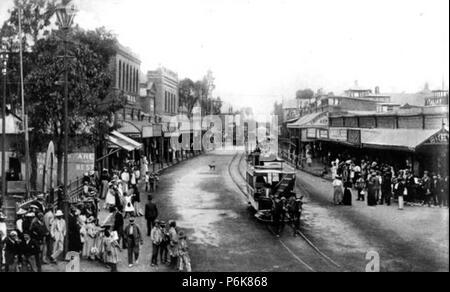 Du Toit's Pan Road Kimberley, 1899 - Stock Photo