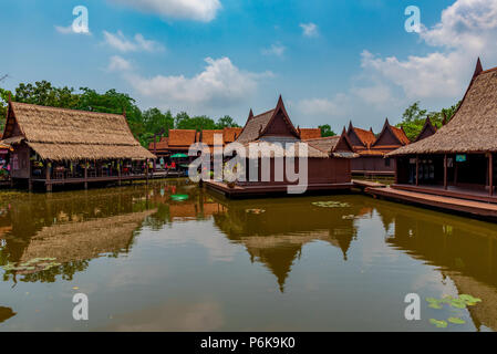Laem Chabang, Thailand -- March 16, 2016. retail stores built over the water in Thailand. - Stock Photo