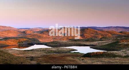 Teifi Pools Cambrian Mountains Tregaron Ceredigion Wales at sunset - Stock Photo