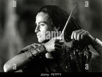 Actor Keanu Reeves in the movie Little Buddha, 1993 - Stock Photo