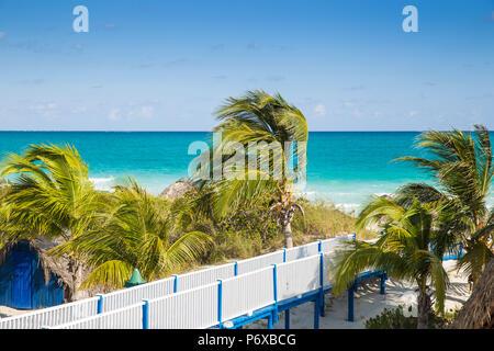 Cuba, Jardines del Rey, Cayo Guillermo, Playa Pilar - Stock Photo