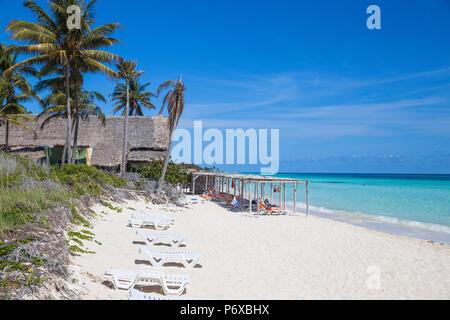 Cuba, Jardines del Rey, Cayo Coco, Playa Larga - Stock Photo