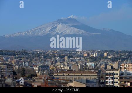 Vulkan, Etna, Catania, Sizilien, Italien - Stock Photo