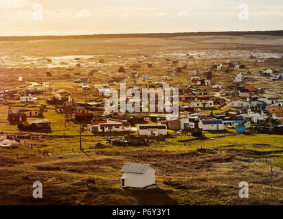 Uruguay, Rocha Department, Elevated view of the Cabo Polonio. - Stock Photo