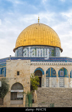 Israel, Jerusalem, Temple Mount, Dome of the Rock - Stock Photo