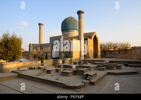 Gur-e-Amir mausoleum of the Asian conqueror Timur (also known as Tamerlane, 1336-1405). It has a very important place in the history of Persian-Mongolian architecture. A Unesco World Heritage Site, Samarkand. Uzbekistan - Stock Photo
