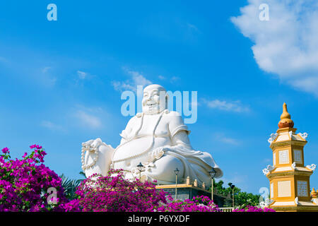 Asia, South East Asia, Vietnam, Mekong Delta, My Tho, Vinh Trang, Buddhist temple - Stock Photo