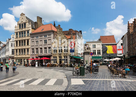 Bruges city centre, Belgium - Stock Photo